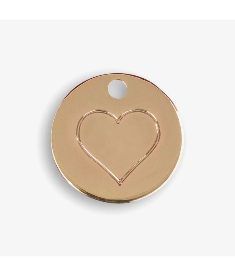 Médaille dorée Coeur - Le Bijou de Mimi