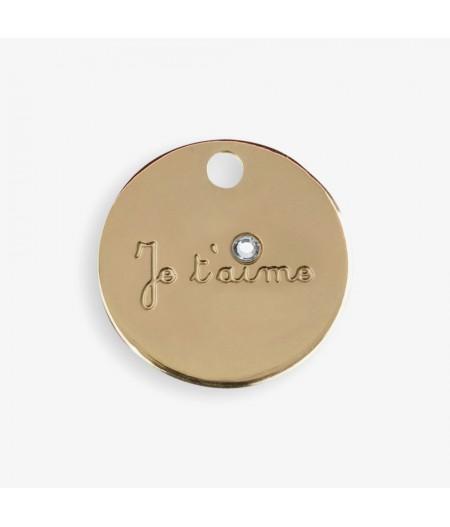 Médaille dorée Je t'aime - Le Bijou de Mimi