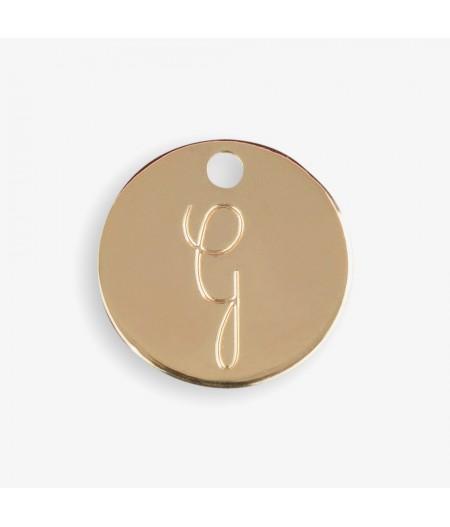 Médaille dorée G - Le Bijou de Mimi