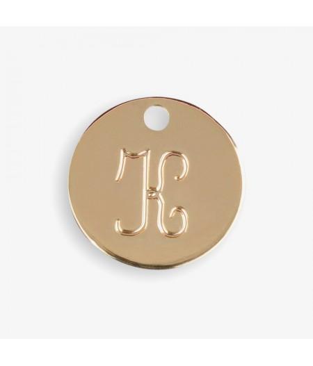 Médaille dorée K - Le Bijou de Mimi