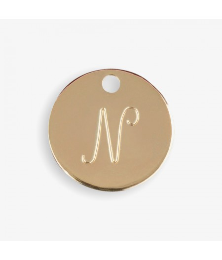 Médaille dorée N - Le Bijou de Mimi