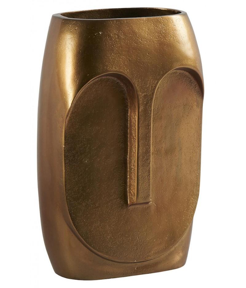 Vase Moai Laiton Oxydé 18x10xH31cm - Athezza