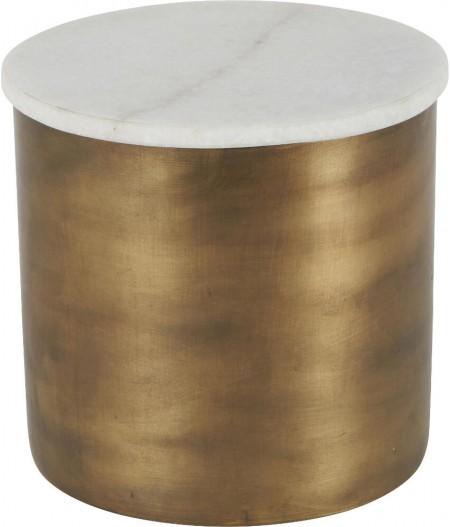 Boîte Marbre Métal D15xH14cm - Athezza