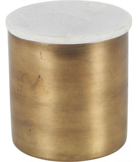 Boîte Marbre Métal D11.5xH11.5cm - Athezza