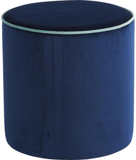 Pouf Bleu Marine/Bleu Ciel 40x40cm Countra - Athezza