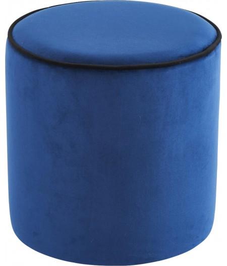Pouf Bleu marine / Noir 40x40cm Countra - Athezza