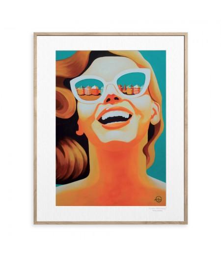 40x50 cm Emilie Arnoux 044 Reine Des Plages - Affiche Image Républic