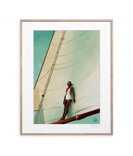 40x50 cm Emilie Arnoux 042 Big Whitesail - Affiche Image Républic
