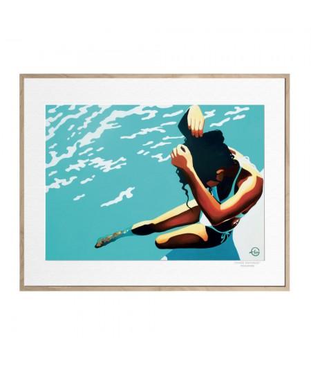 40x50 cm Emilie Arnoux 041 Weight Hair - Affiche Image Républic
