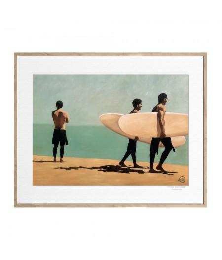 40x50 cm Emilie Arnoux 040 Walking Surfers 1 - Affiche Image Républic