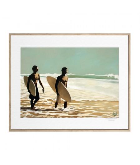40x50 cm Emilie Arnoux 039 Walking Surfers 2 - Affiche Image Républic