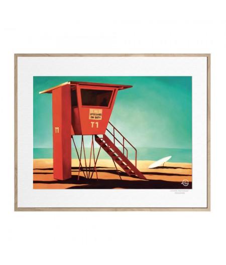 40x50 cm Emilie Arnoux 038 Waikiki Morning - Affiche Image Républic