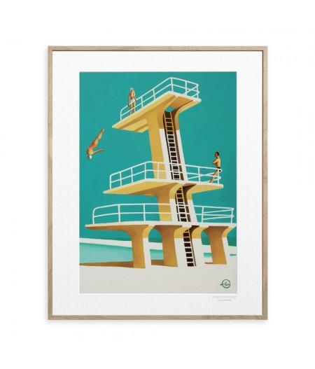 40x50 cm Emilie Arnoux 037 Up There - Affiche Image Républic