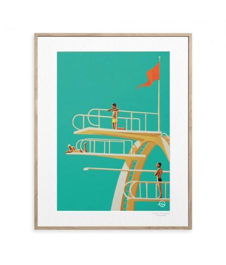 40x50 cm Emilie Arnoux 035 Trouville Nostalgy - Affiche Image Républic