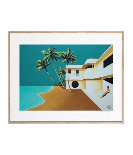 40x50 cm Emilie Arnoux 034 The Villa - Affiche Image Républic