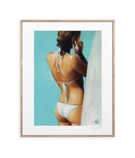 40x50 cm Emilie Arnoux 032 Surfeuse - Affiche Image Républic