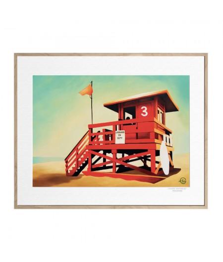 40x50 cm Emilie Arnoux 031 Santa Monica - Affiche Image Républic