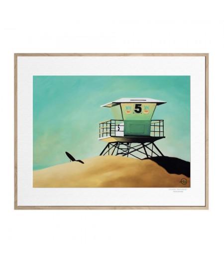 40x50 cm Emilie Arnoux 030 San Diego - Affiche Image Républic