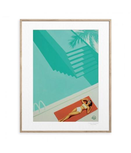 40x50 cm Emilie Arnoux 028 Poolside - Affiche Image Républic