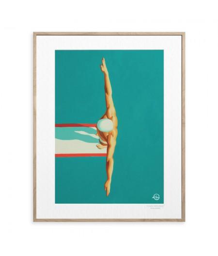 40x50 cm Emilie Arnoux 027 Plongeur 2 - Affiche Image Républic