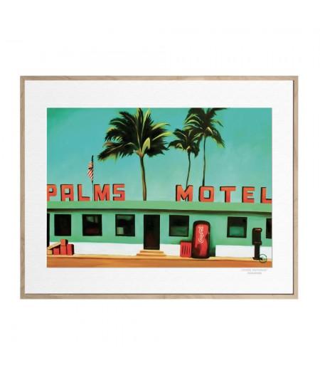 40x50 cm Emilie Arnoux 024 Palms Motel - Affiche Image Républic