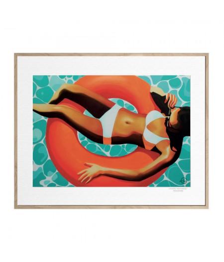 40x50 cm Emilie Arnoux 022 Neon Ring - Affiche Image Républic