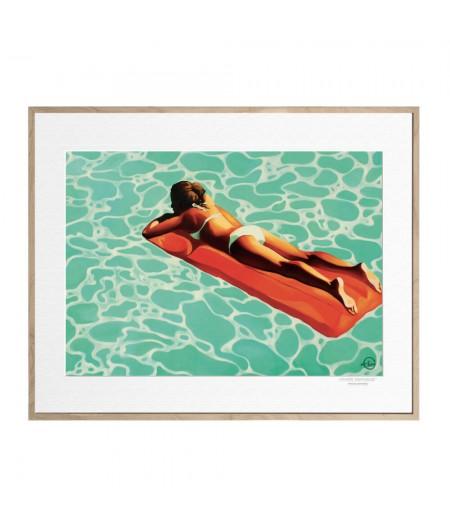 40x50 cm Emilie Arnoux 020 Mint Napping - Affiche Image Républic