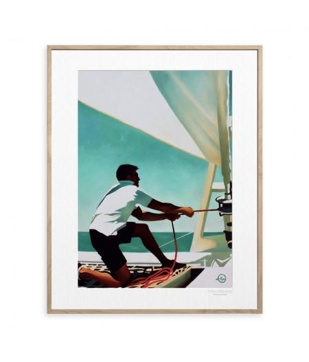 40x50 cm Emilie Arnoux 019 Manœuvre - Affiche Image Républic
