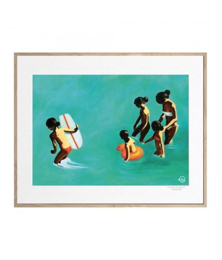 40x50 cm Emilie Arnoux 017 Les Petites Brunes - Affiche Image Républic