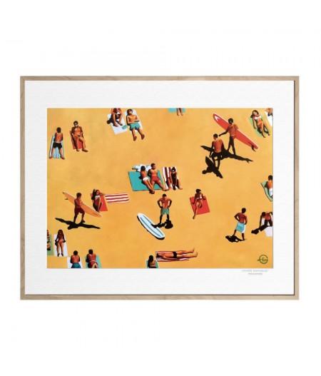 40x50 cm Emilie Arnoux 015 La Plage 2 - Affiche Image Républic