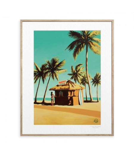 40x50 cm Emilie Arnoux 014 Key West - Affiche Image Républic