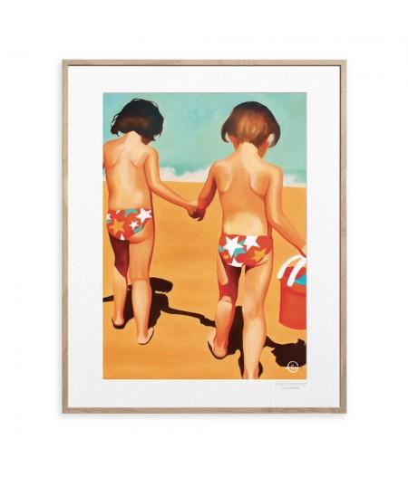 40x50 cm Emilie Arnoux 012 Jumelles - Affiche Image Républic