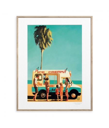40x50 cm Emilie Arnoux 011 Ice Cream Truck - Affiche Image Républic