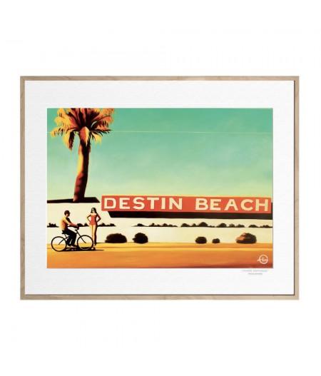 40x50 cm Emilie Arnoux 005 Destin Beach - Affiche Image Républic