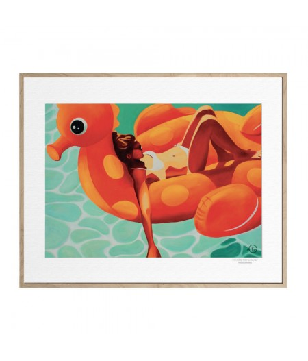 40x50 cm Emilie Arnoux 004 Childhood - Affiche Image Républic