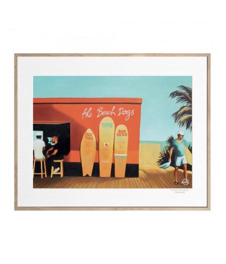 40x50 cm Emilie Arnoux 003 Beach Dogs - Affiche Image Républic