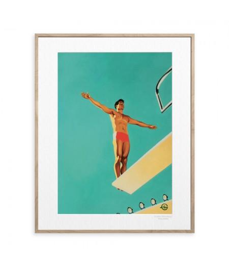 40x50 cm Emilie Arnoux 001 American Flagcompo - Affiche Image Républic