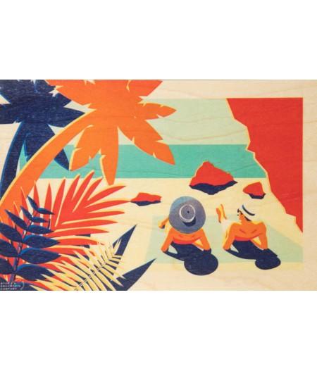 Cartes Postales en bois Woodhi - Riviera Farniente