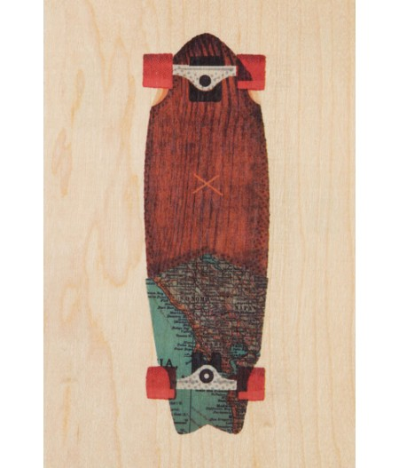 Cartes Postales en bois Woodhi - Travel Skate