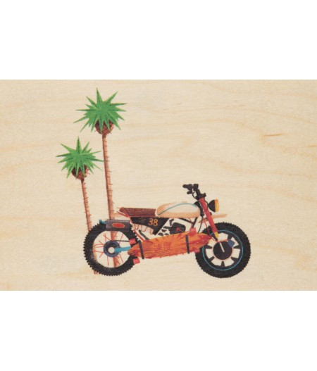 Cartes Postales en bois Woodhi - Travel Moto