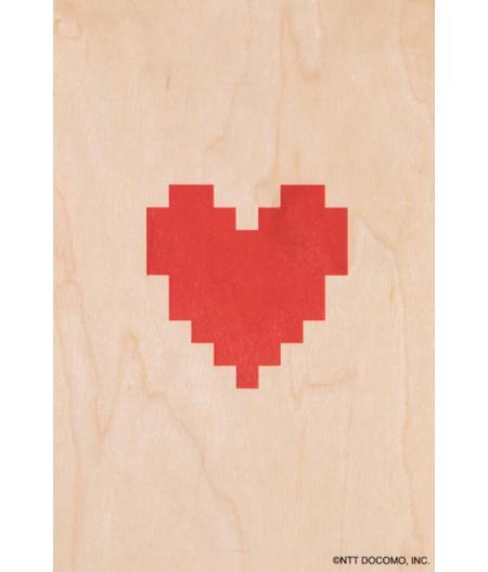 Cartes Postales en bois Woodhi - Emoji Heart