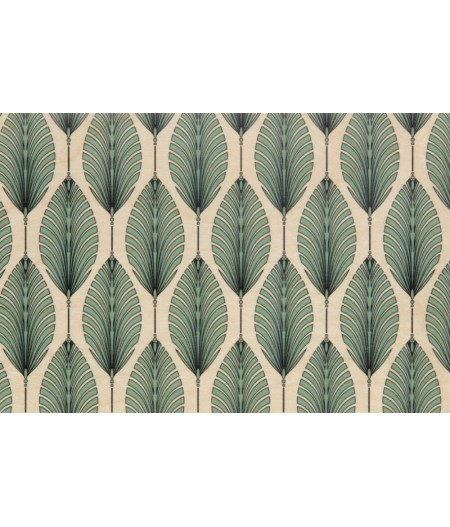 Cartes Postales en bois Woodhi - Art Deco Leaves
