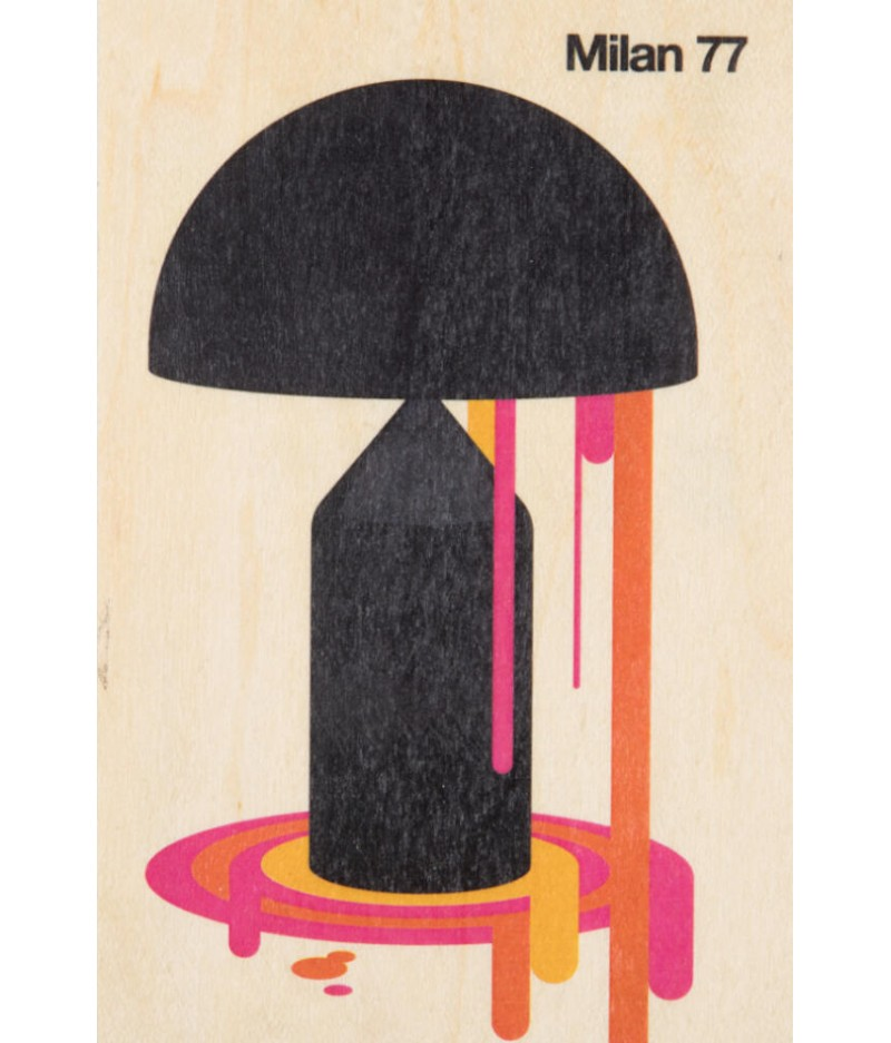 Cartes Postales en bois Woodhi - Around The World Milan 77