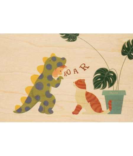Cartes Postales en bois Woodhi - Kids 2 Roar