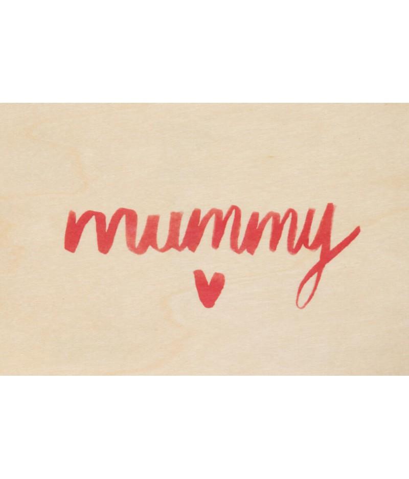 Cartes Postales en bois Woodhi - Painted Words Mummy