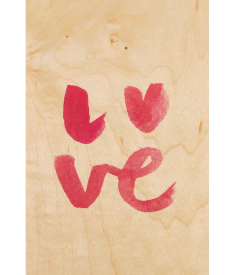 Cartes Postales en bois Woodhi - Painted Words Love