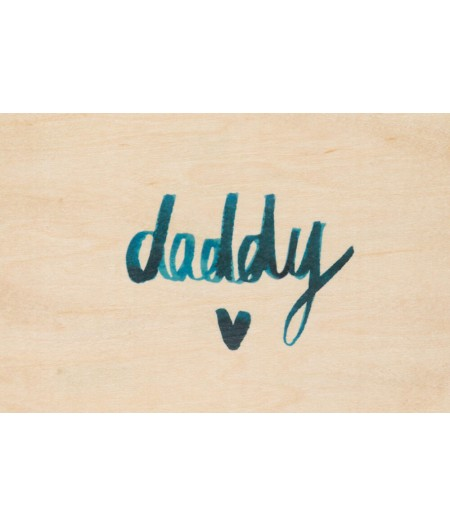 Cartes Postales en bois Woodhi - Painted Words Daddy
