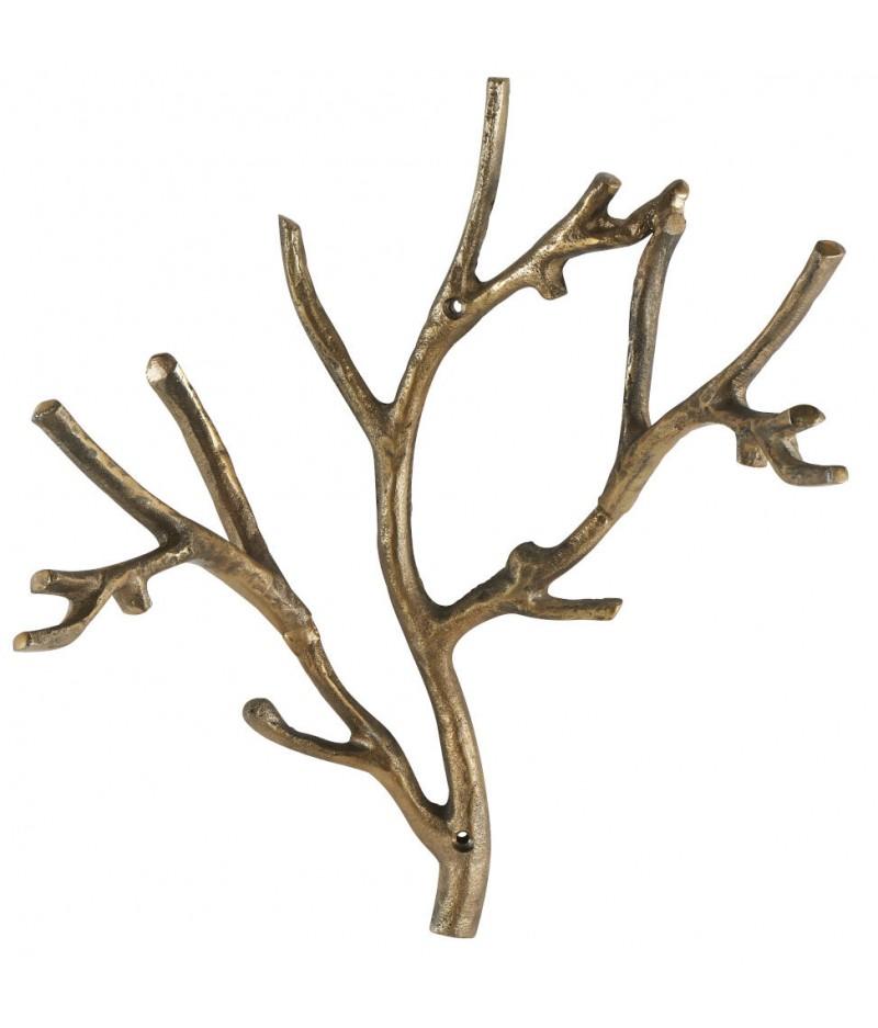 Patère Branche Dorée 43x46x20cm - Athezza