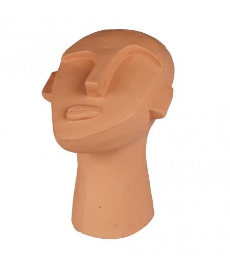 Tête Moai 17.5x15xH22cm - Athezza