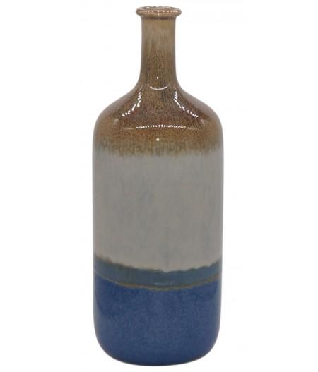 Vase Bouteille Fuji Bleu 15.5xH41cm - Athezza
